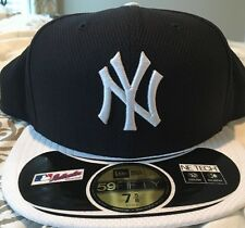 New York Yankees New Era Fitted 7 5/8 NWT Blue White Cap Hat
