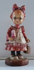 """Anri - Sarah Kay Collection Ltd Edition Hand Carved Wood Figure """"Off to School"""""""