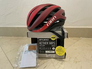 NEW GIRO AETHER MIPS ROAD CYCLING HELMET MATTE DARK RED LARGE 59-63 cm L