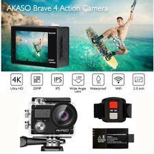 Akaso Brave 4 Black Ultra HD 4K Wifi Action Camera 20MP Video DVR Camcorder New