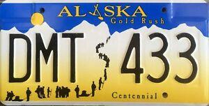 USA Number Licence Plate ALASKA GOLD RUSH CENTENNIAL
