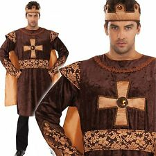 Adult Mens Medieval Mercenary Knight Lionheart Lancelot King Costume Outfit New