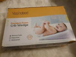 YesIndeed Premium Foam Crib Wedge. Open box