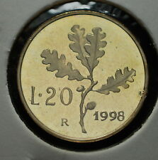 1998  Repubblica Italiana 20 lire  FONDO SPECCHIO  da divisionale