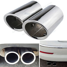 Chrome Muffler Exhaust Tail Pipe Tip For 2006-2010 BMW E90 E92 325 328i 3 Series
