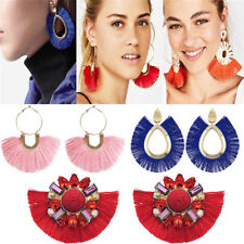 Elegant Bohemian Women Long Tassel Fringe Drop Dangle Earrings Ear Stud Jewelry