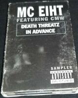 MC EIHT - DEATH THREATZ Sampler Cassette Tape 1996 rare hip hop rap gangster