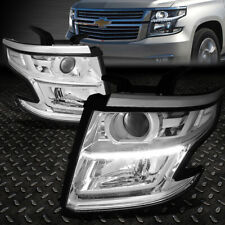 FOR 15-20 CHEVY TAHOE SUBURBAN CHROME/CLEAR CORNER LED DRL PROJECTOR HEADLIGHT
