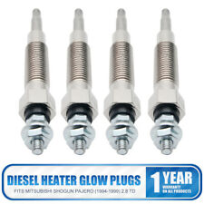 4x Diesel Heater Glow Plugs For Mitsubishi Pajero Shogun (1994-1999) 2.8 TD