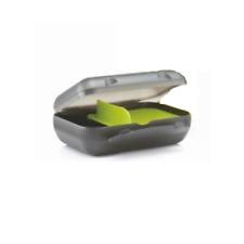 Tupperware _  Lunch Box _  schwarz mit Einsatz in grün _ A136 _ Original und Neu