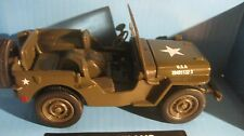City Cruiser USA Army Jeep Willys In A Green 132 Scale Diecast By New Ray dc942