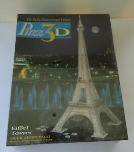 New 1995 Fully Dimensional 3D Puzz Puzzle Eiffel Tower 3 Feet Milton Bradley