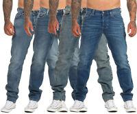 Diesel Herren Jeans Larkee-Beex Regular Straight Tapered Larkee Hose blau
