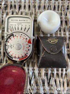 Vintage Weston Master V S461.5 Exposure Meter & Invercone, Tested, Working