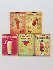 80's Jahre Cocktail Drink Rezepte Tiki Bar Küche pub NEUHEIT Kühlschrank-Magnet
