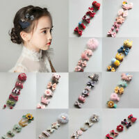 5Pcs Kids Baby Girl Colorful Hair Clips Bowknot Crown Hairpins Headwear Jewelry