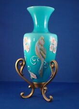 Fenton hand painted Vase with stand