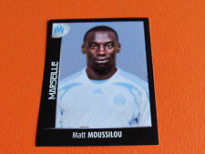 N°232 MOUSSILOU OLYMPIQUE MARSEILLE OM PANINI FOOT 2008 FOOTBALL 2007-2008