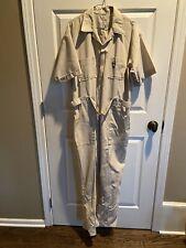 Vintage Men's Short-Sleeve Work Jumpsuit Mechanic Coveralls Mcm Tan Romper