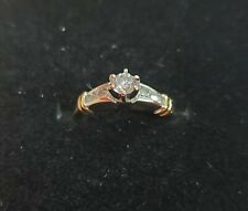 14K Solid Multi Toned Gold .50 TCW Diamond Wedding/Engagement Ring