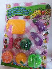 Obst Gemüse Kaufladen Lebensmittel Kinder Obst schneiden mit Brett Messer NEU