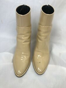 RAG & BONE size 37 / 7 taupe patent leather ankle boots