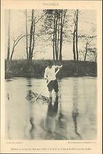 PUY-DE-DOME PECHE AVEC TROUBLE DANS RIVIERE LA DORE IMAGE 1900