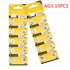 10PCS AG3 LR41 392 SR41 192 1.5V Alkaline Button Coin Cells Watch Battery New