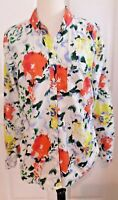 Gap Top Women's Blouse Watercolor Floral Flower Print Spring Tropical M Medium