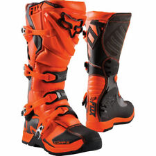 Fox COMP MX Motocross Offroad Boots Orange Youth Kids Size Uk 6 Us 7 was £169