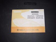 Vintage Yamaha Snowmobile Owner's Manual 1973 Sl 292 Gp 292