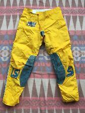 Vtg Sinisalo Yellow Racing Motocross Pants AHRMA Mens Size 29/30x28 Finland