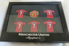 MANCHESTER UNITED 'MAGNIFICENT 7'S OFFICIAL BADGE SET BOXED - BRAND NEW