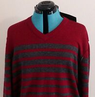 Kenneth Cole Reaction Men's Size XXL Sweater New With Tag Red and Gray