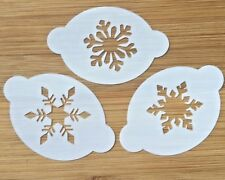 Face paint stencils christmas snowflakes  Myler 2.5 inch x 1.75