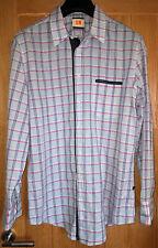 HUGO BOSS 'Orange' (Size XL) Smart 'Pink Striped' Long Sleeved Men's Shirt