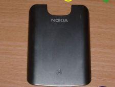 Genuina Original Nokia E5 Tapa Metal Plateado Acero Cepillado