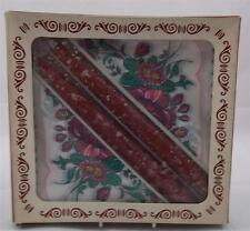 Villeroy & and Boch BOTANICA ? paper serviettes and candles BOXED VERY RARE red