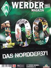 Werder Magazin Bremen + Hamburger SV + 01.03.2014 + Das 100. Derby + Programm