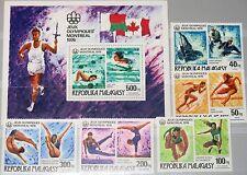 MADAGASCAR MALAGASY 1976 775-79 A Block 10 A 543-4 C153-56 Olympics Montreal MNH