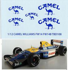 1/12  CAMEL WILLIAMS RENAULT FW14 FW14B TAMIYA  DECALS TB DECAL TBD108