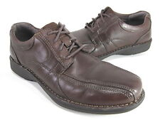 CLARKS MEN'S SEKTOR 4 EYE CASUAL OXFORD BROWN SMOOTH LEATHER US SZ 9 MEDIUM (D)M