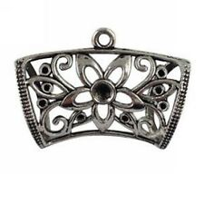5Pcs Tibetan Silver Flower Scarf Bail Ring T15984 FREE SHIP