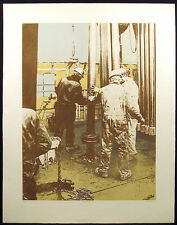 "Ted Thomas ""Waking Up"" Hand Signed & Numbered Etching oil drilling workers"