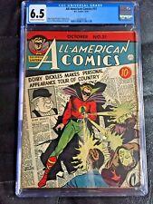 ALL AMERICAN COMICS #31 CGC FN+ 6.5; CM-OW; Green Lantern cover! scarce!