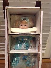 "MARCH AQUAMARINE Diamond Doll Designs Beverly Stoehr 14"" Porcelain Birthstone LE"
