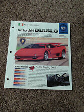 1990- PRESENT LAMBORGHINI DIABLO IMP Brochure SPORTS CARS Group 3 #5