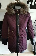 RIVER ISLAND Girls purple quilted coat 12years
