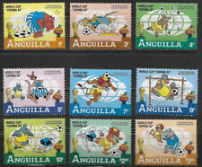 ANGUILLA ,1982 , WORLD CUP , SPORTS , SET OF 9 STAMPS , MNH , CV$8.75