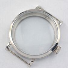 46MM Pilot  Sterile 316L Steel Polished case fit ETA 6497 6498 movement C041